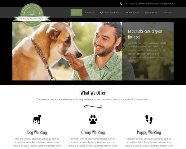 Dog Walking WordPress Theme thumbnail