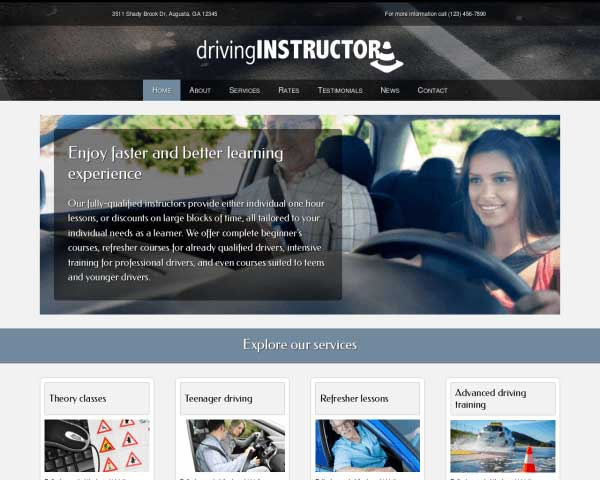 Driving Instructor WordPress Theme thumbnail