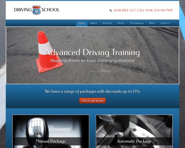 Driving School WordPress Theme thumbnail