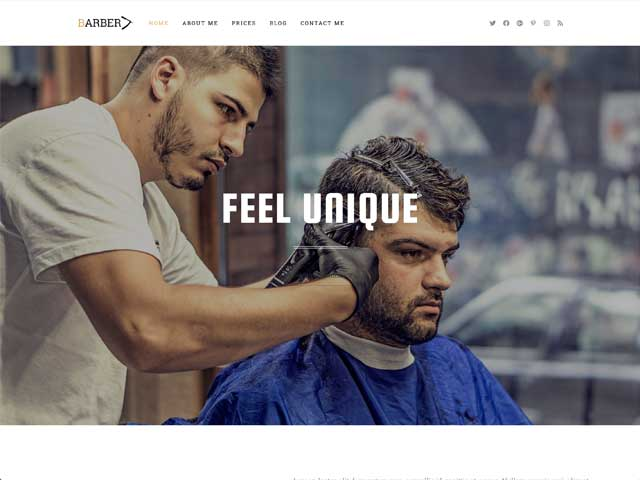 Barber Shop OceanWP Demo thumbnail