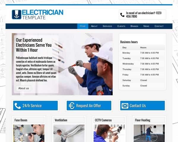 Electricien WordPress Theme thumbnail