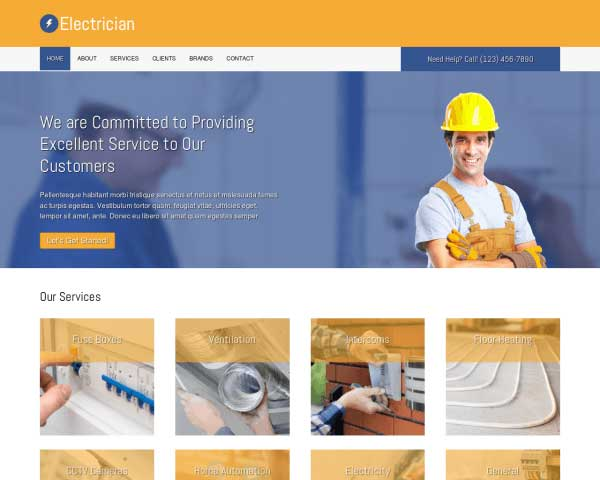 Electrician WordPress Theme thumbnail