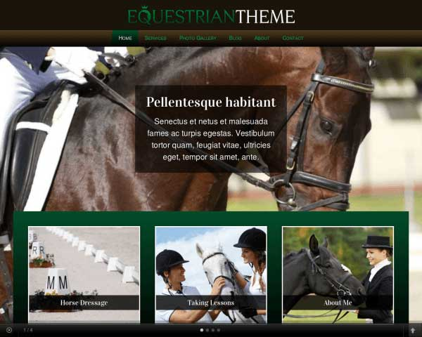 Equestrian WordPress Theme thumbnail