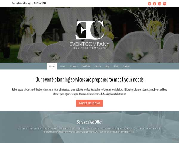 Event Company WordPress Theme thumbnail