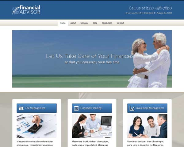Financial Advisor WordPress Theme thumbnail