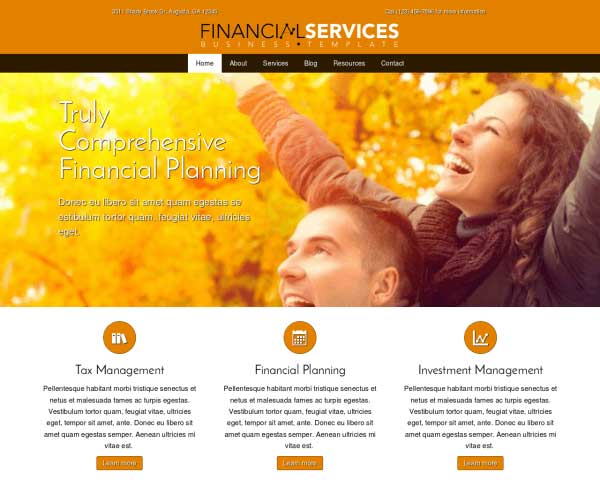 Financial Services WordPress Theme thumbnail