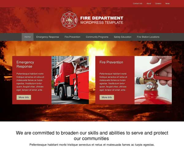 Fire Department WordPress Theme thumbnail