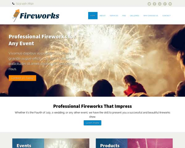 Fireworks WordPress Theme thumbnail
