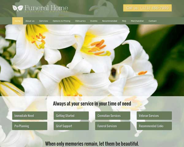 Funeral Home WordPress Theme thumbnail