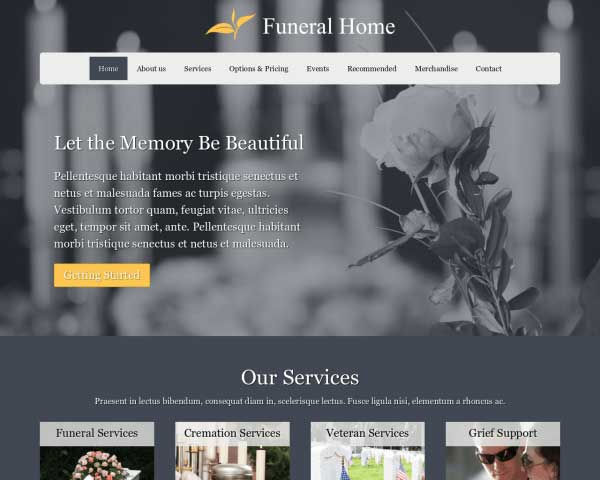 Memorial WordPress Theme thumbnail
