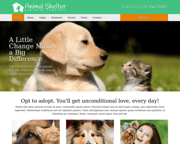 Animal Shelter WordPress Theme thumbnail