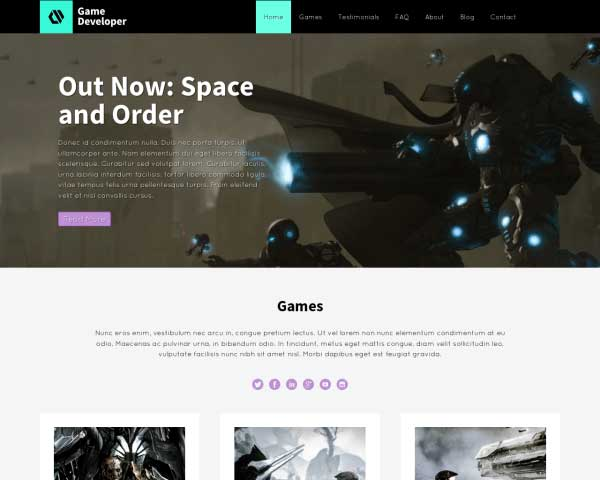 Game Developer WordPress Theme thumbnail
