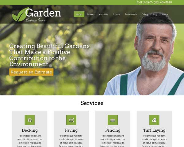 Garden WordPress Theme thumbnail