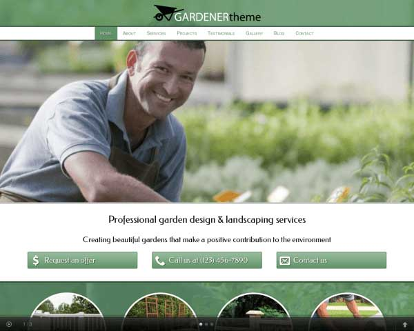 Gardener WordPress Theme thumbnail