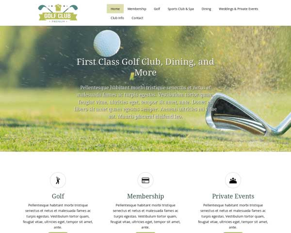 Golf Club WordPress Theme thumbnail