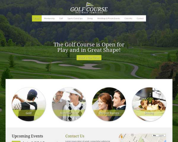 Golf Course WordPress Theme thumbnail