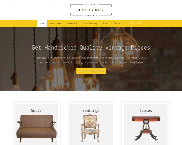 Antiques WordPress Theme thumbnail
