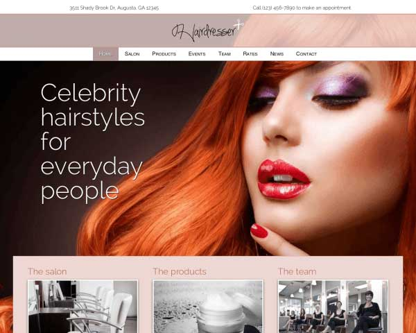 Hairdresser WordPress Theme thumbnail
