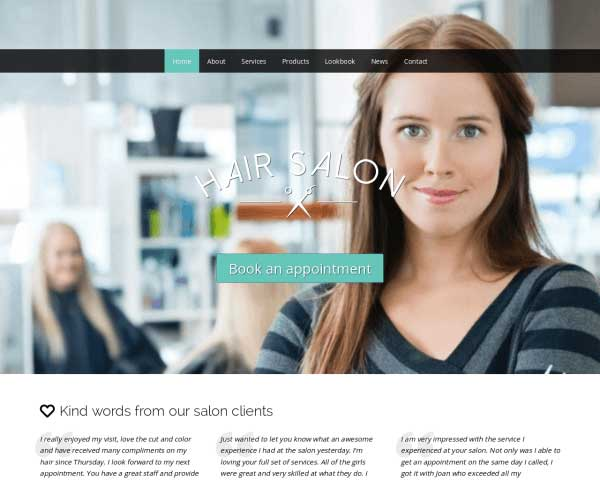 Hair Salon WordPress Theme thumbnail