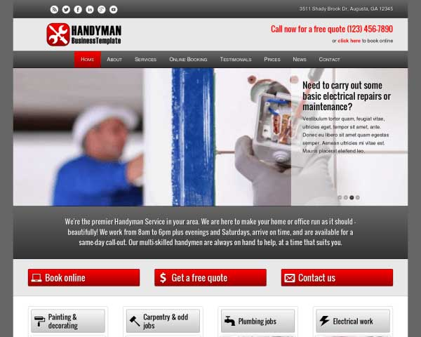Handyman WordPress Theme thumbnail