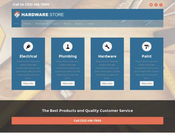 Hardware Store WordPress Theme thumbnail