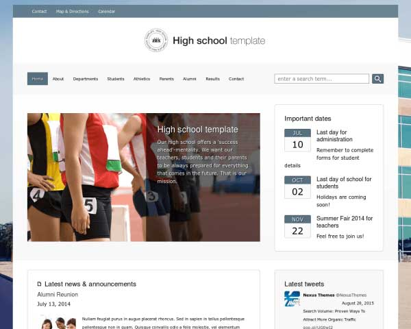 Hogeschool WordPress Theme thumbnail