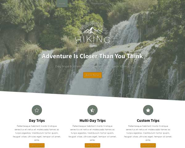 Hiking WordPress Theme thumbnail