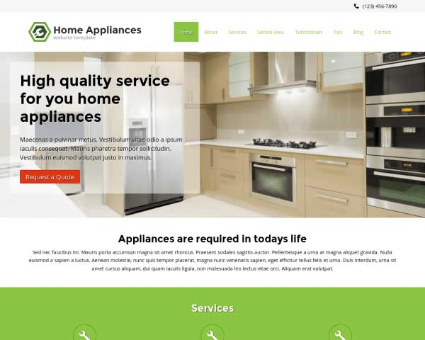 Home Appliances WordPress Theme thumbnail