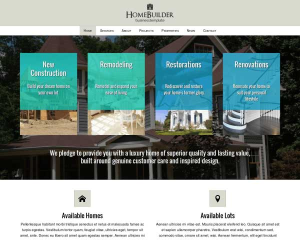 Home Builder WordPress Theme thumbnail