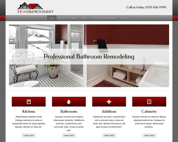 Home Improvement WordPress Theme thumbnail