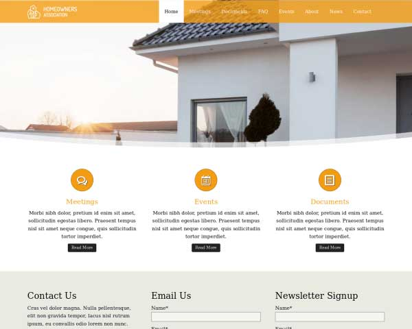 Homeowners Association WordPress Theme thumbnail