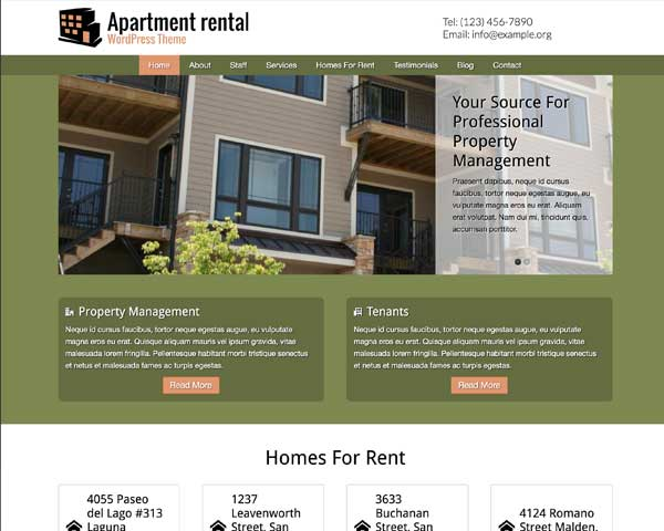 Apartment Rental WordPress Theme thumbnail
