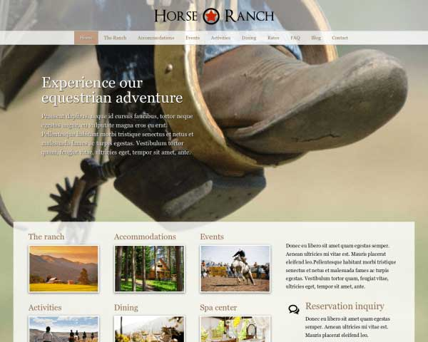 Horse Ranch WordPress Theme thumbnail