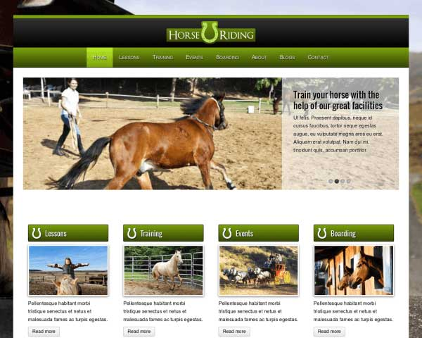 Horse Riding WordPress Theme