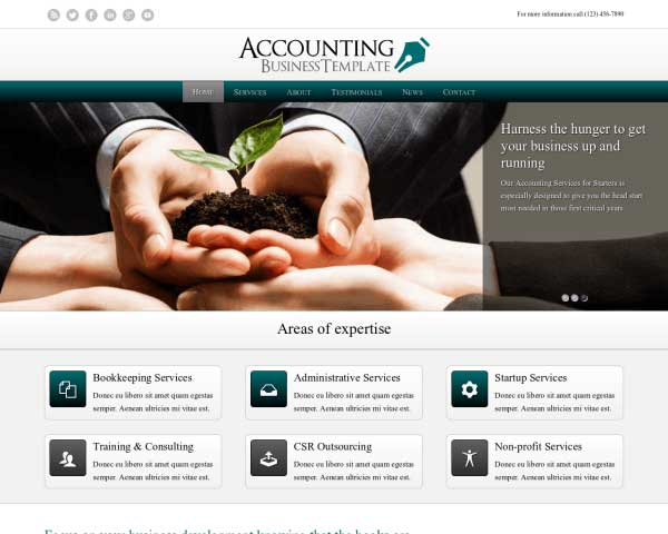Accounting WordPress Theme thumbnail