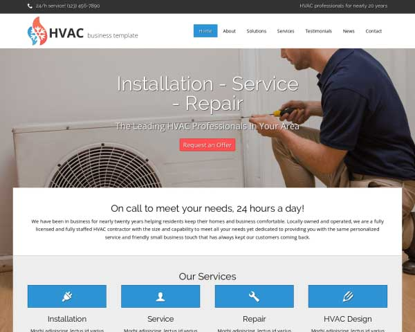 HVAC WordPress Theme thumbnail