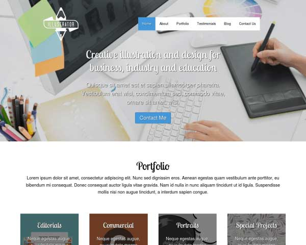 Illustrator WordPress Theme thumbnail