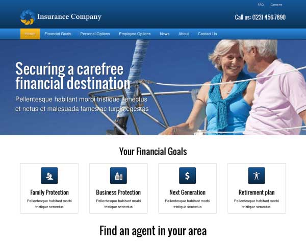 Insurance Company WordPress Theme thumbnail