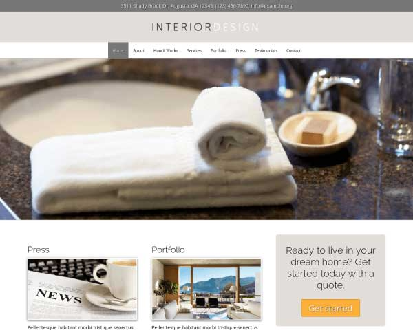 Interior Design WordPress Theme thumbnail