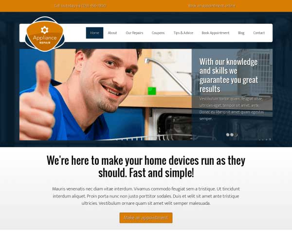 Witgoed Reparatie WordPress Theme thumbnail