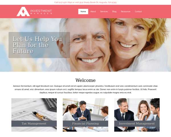Investment Manager WordPress Theme thumbnail