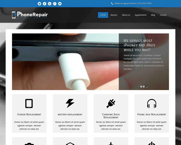 iPhone Repair WordPress Theme thumbnail