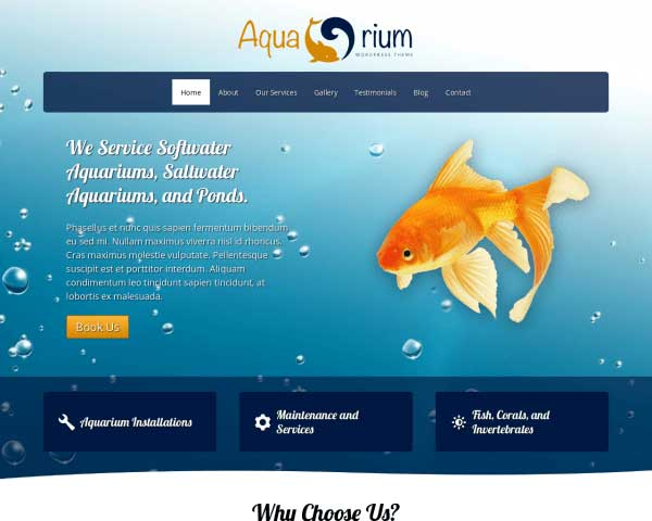 Aquarium WordPress Theme thumbnail