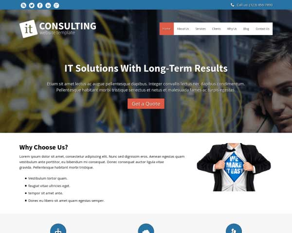 Information Technology WordPress Theme thumbnail