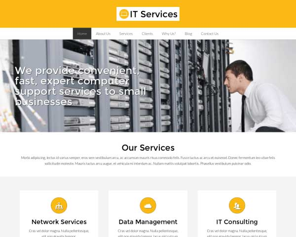 IT Services WordPress Theme thumbnail