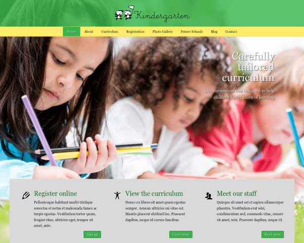 Kindergarten WordPress Theme thumbnail