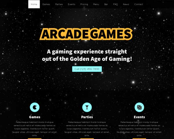 Arcade Games WordPress Theme thumbnail