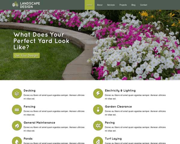 Landscape Design WordPress Theme thumbnail