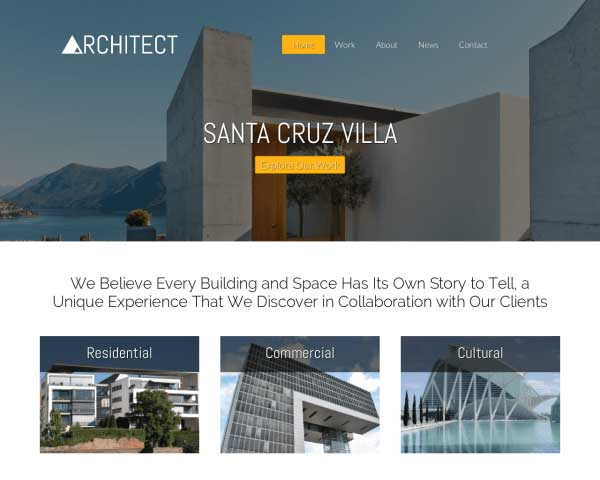 Architect WordPress Theme thumbnail
