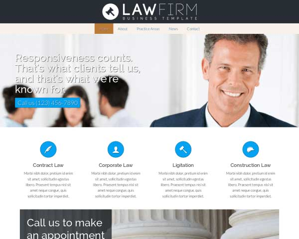 Lawyer WordPress Theme thumbnail